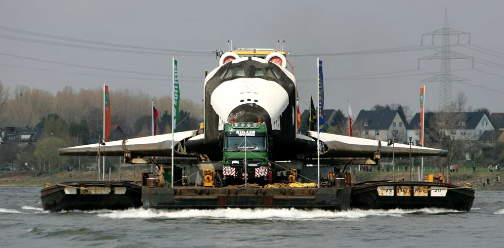 Transport der Buran zum Technikmuseum Speyer.